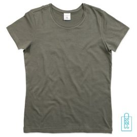 T-Shirt Dames Jersey bedrukken grijs