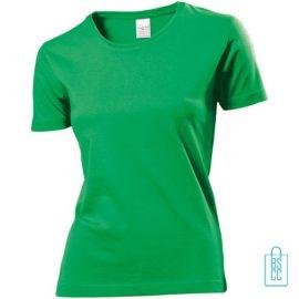 T-Shirt Dames Jersey bedrukken groen