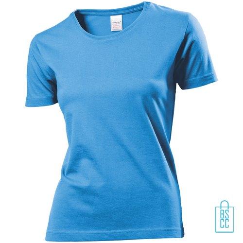 T-Shirt Dames Jersey bedrukken lichtblauw