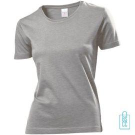 T-Shirt Dames Jersey bedrukken lichtgrijs