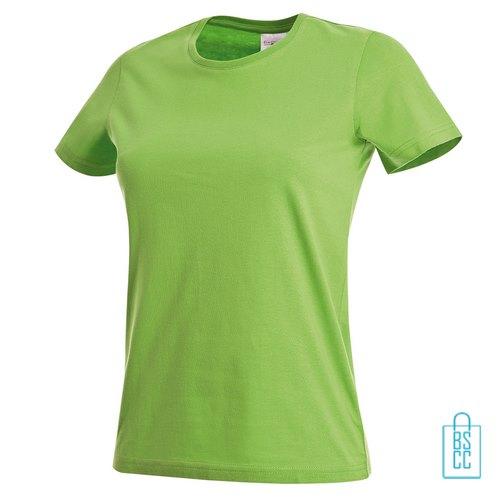 T-Shirt Dames Jersey bedrukken lichtgroen