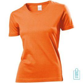T-Shirt Dames Jersey bedrukken oranje