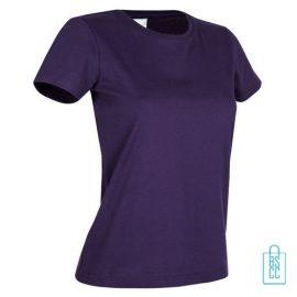 T-Shirt Dames Jersey bedrukken paars