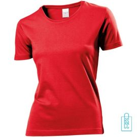T-Shirt Dames Jersey bedrukken rood
