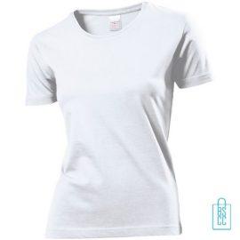 T-Shirt Dames Jersey bedrukken wit