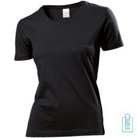 T-Shirt Dames Jersey bedrukken zwart