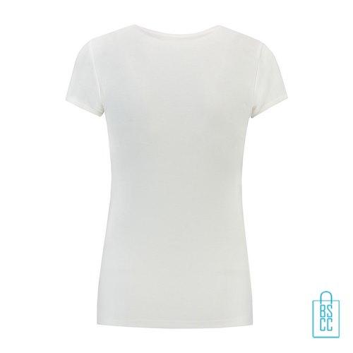 T-Shirt Dames Katoen bedrukt wit