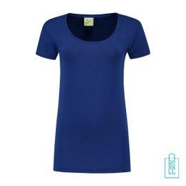 T-Shirt Dames Lang bedrukken blauw
