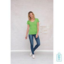 T-Shirt Dames Lang bedrukken goedkoop