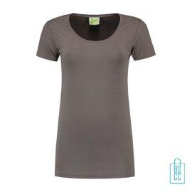 T-Shirt Dames Lang bedrukken grijs