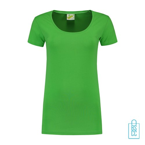T-Shirt Dames Lang bedrukken groen