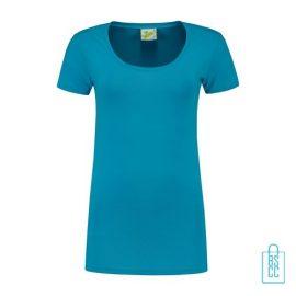 T-Shirt Dames Lang bedrukken lichtblauw