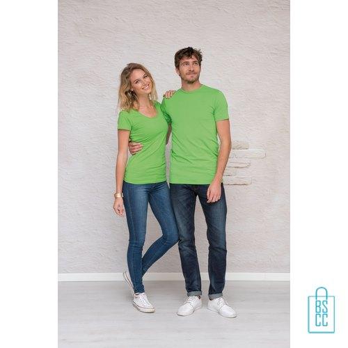 T-Shirt Dames Lang bedrukken met logo