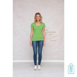 T-Shirt Dames Lang bedrukken met opdruk