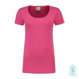 T-Shirt Dames Lang bedrukken roze
