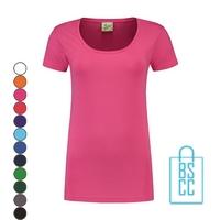 T-Shirt Dames Lang bedrukken