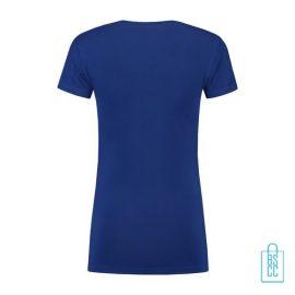 T-Shirt Dames Lang bedrukt blauw