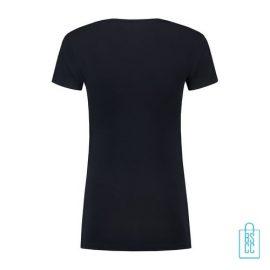 T-Shirt Dames Lang bedrukt donkerblauw