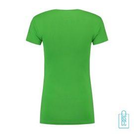 T-Shirt Dames Lang bedrukt groen