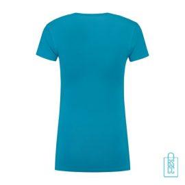T-Shirt Dames Lang bedrukt lichtblauw