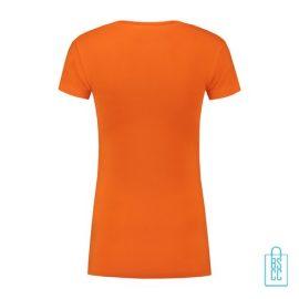 T-Shirt Dames Lang bedrukt oranje
