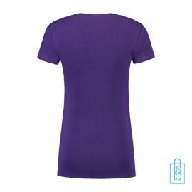 T-Shirt Dames Lang bedrukt paars