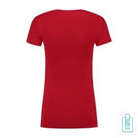 T-Shirt Dames Lang bedrukt rood