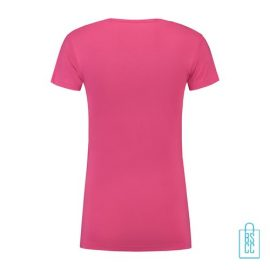 T-Shirt Dames Lang bedrukt roze