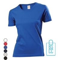 T-Shirt Dames Ronde Hals bedrukken