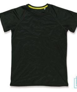 T-Shirt Dames Sport Goedkoop bedrukken zwart