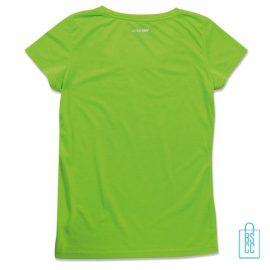 T-Shirt Dames Sport Katoen bedrukken neongroen