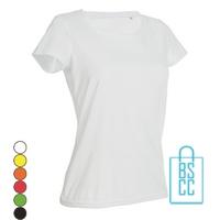 T-Shirt Dames Sport Katoen bedrukken
