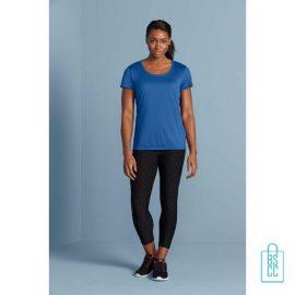 T-Shirt Dames Sport Lang bedrukken met logo