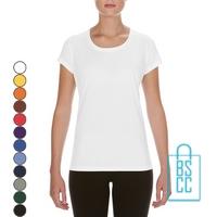 T-Shirt Dames Sport Lang bedrukken