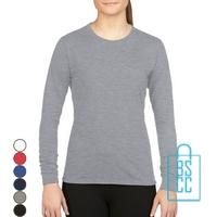 T-Shirt Dames Sport Longsleeve bedrukken
