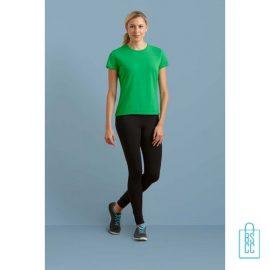 T-Shirt Dames Sport bedrukken met logo