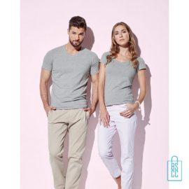 T-Shirt Dames V-Hals Cotton bedrukken met logo, v-hals bedrukt, bedrukte v-hals met logo
