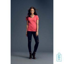 T-Shirt Dames V-Hals Goedkoop bedrukken met logo, v-hals bedrukt, bedrukte v-hals met logo