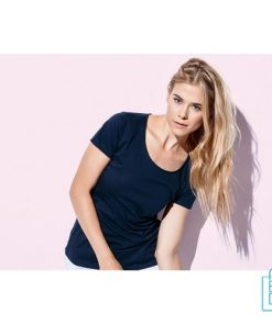 T-Shirt Dames fijn katoen bedrukken modern