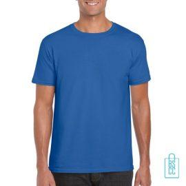 T-Shirt Heren Casual bedrukken donkerblauw