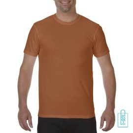 T-Shirt Heren Fashion bedrukken oranje