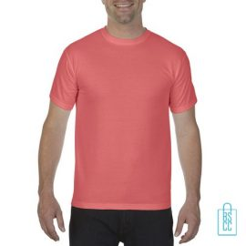T-Shirt Heren Fashion bedrukken oranjerood