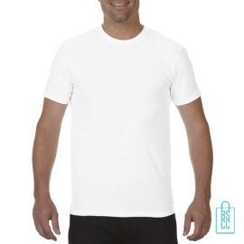 T-Shirt Heren Fashion bedrukken wit