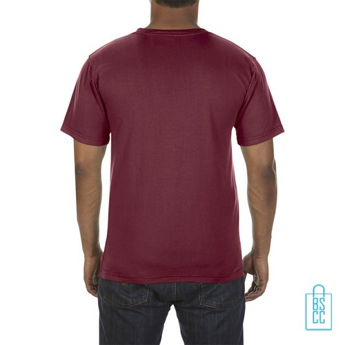 T-Shirt Heren Fashion bedrukt bordeaux