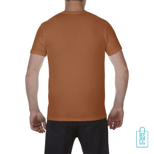 T-Shirt Heren Fashion bedrukt oranje