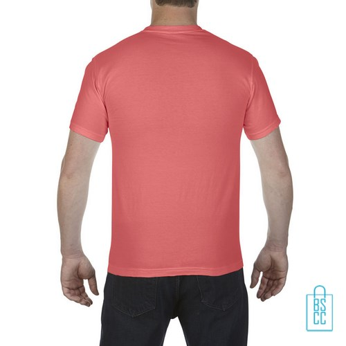 T-Shirt Heren Fashion bedrukt oranjerood