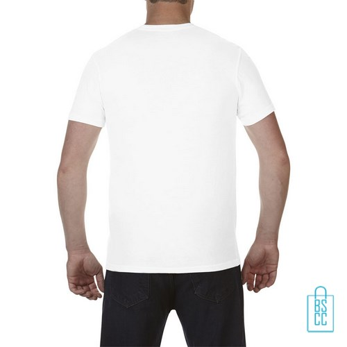 T-Shirt Heren Fashion bedrukt wit