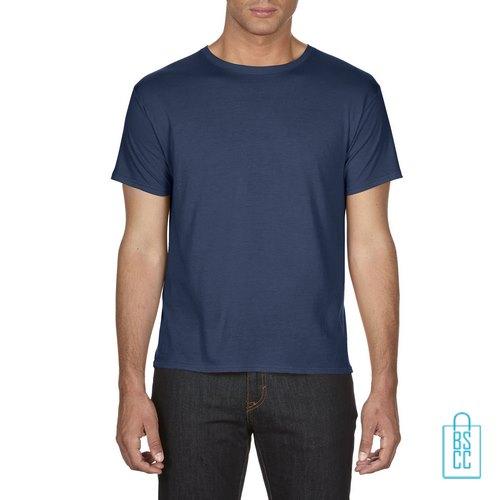 T-Shirt Heren Goedkoop bedrukken blauw