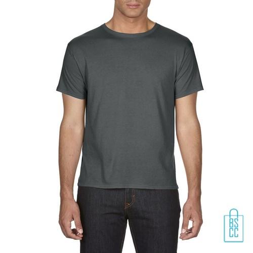 T-Shirt Heren Goedkoop bedrukken grijs