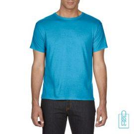 T-Shirt Heren Goedkoop bedrukken lichtblauw